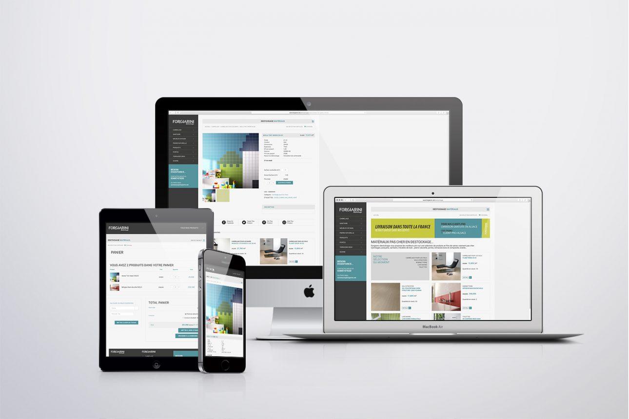 Webdesign Forgiarini Destockage